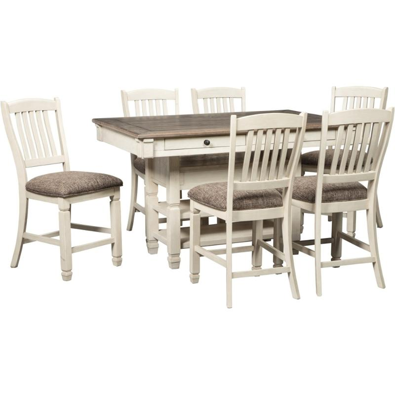 D647 32 Ashley Furniture Bolanburg Rect Dining Room Counter Table