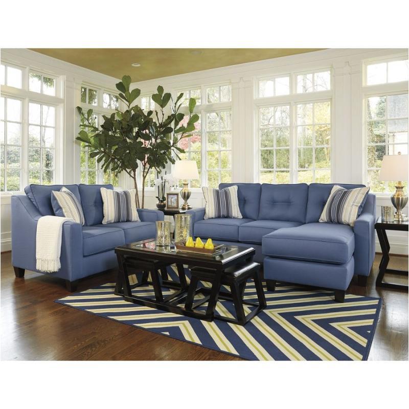 6870318 Ashley Furniture Aldie Nuvella Sofa Chaise Blue