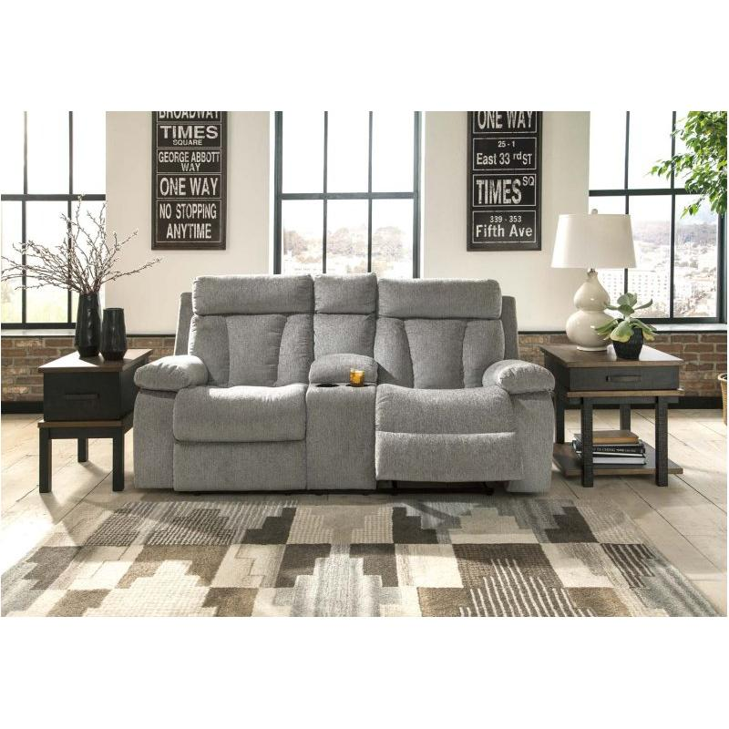15 Ashley Furniture Mitchiner Double Recliner Loveseat With Console