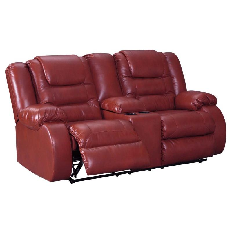 15 Ashley Furniture Vacherie - Salsa Double Recliner Loveseat With  Console