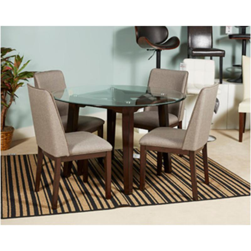 D387 15 Ashley Furniture Chanceen Round Glass Top Table