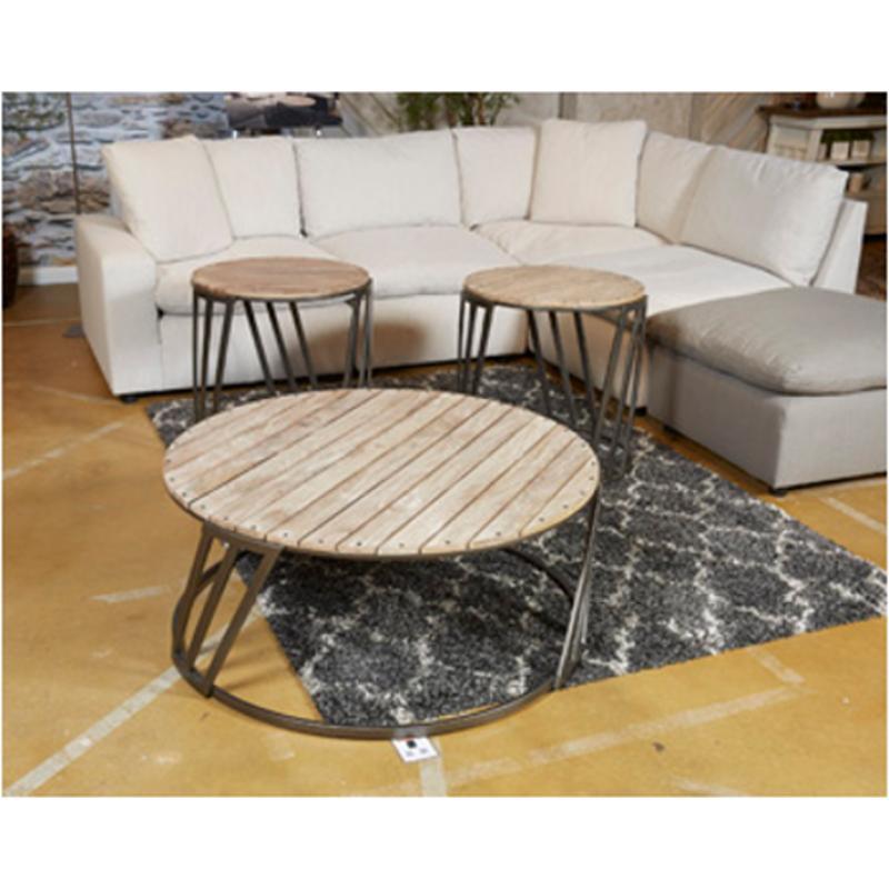 T536 8 Ashley Furniture Fathenzen Round Cocktail Table