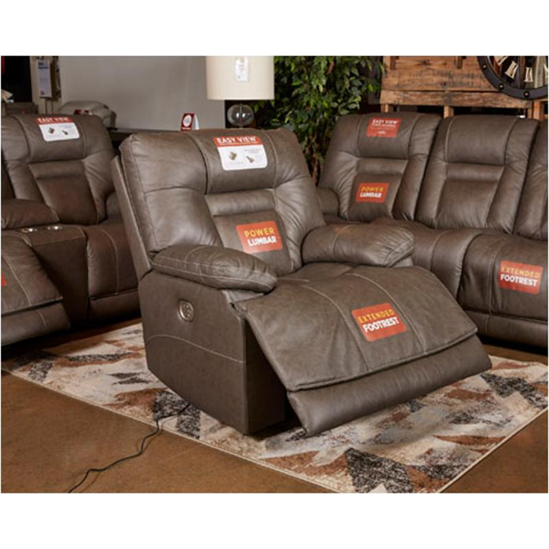 U15 Ashley Furniture Wurstrow - Smoke Power Recliner/adjustable  Headrest