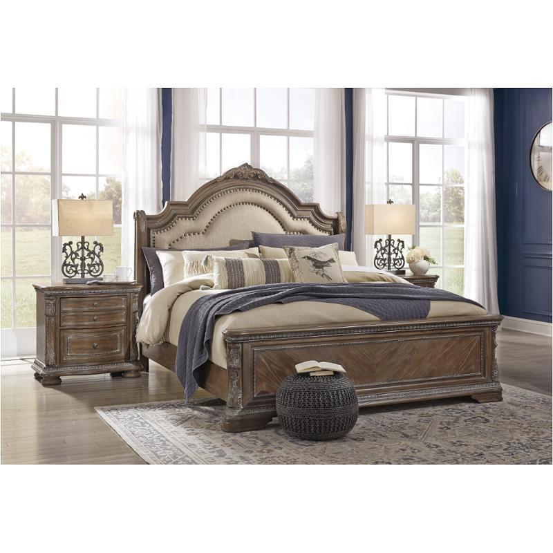 B803 57 Ashley Furniture Charmond Queen, Queen Sleigh Bed Ashley Furniture