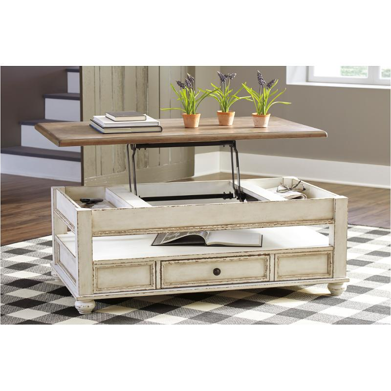 T523 9 Ashley Furniture Realyn Lift Top Cocktail Table