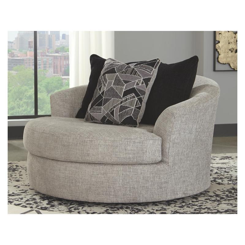 9600621 Ashley Furniture Megginson, Round Swivel Chair Living Room