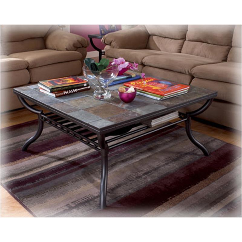 T233 8 Ashley Furniture Antigo Living Room Square Cocktail Table