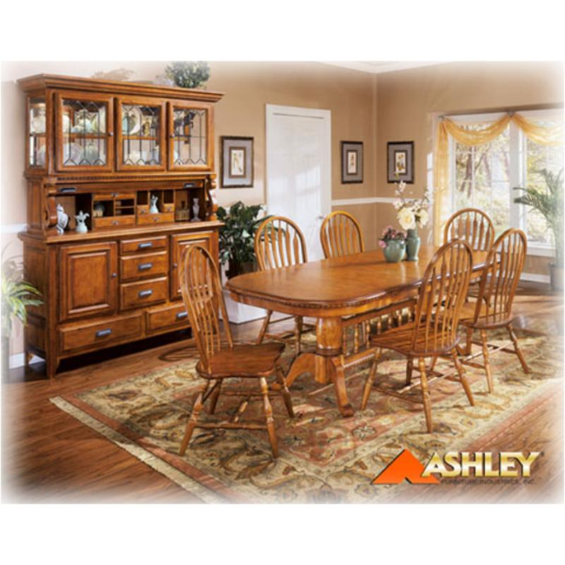 D224 58t Ashley Furniture Drake Ext Trestletop Oak Stain Fnsh