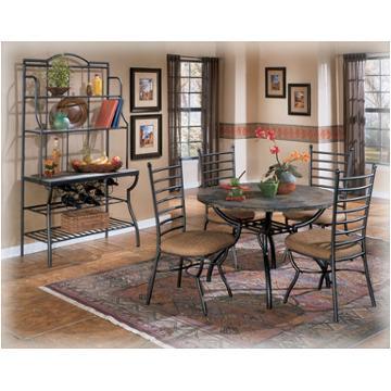D233 15 Ashley Furniture Antigo Round, Slate Dining Room Table Setup