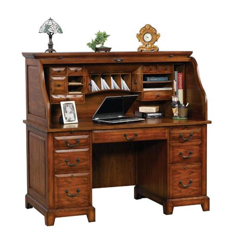 Gz257r Winners Only Furniture Roll Top Desk Top Medium Oak