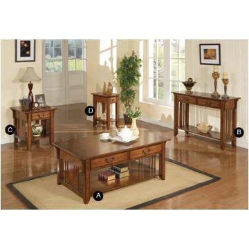 Furniture 50in Coffee Table Medium Oak, Living Room Table Sets